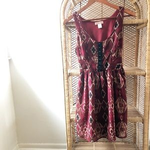 Band Of Gypsies Red Tribal Tank Dress✨